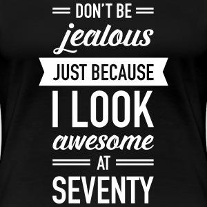 Awesome At Seventy T-Shirts - Frauen Premium T-Shirt