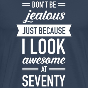 Awesome At Seventy T-shirts - Premium-T-shirt herr