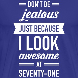 Awesome At Seventy-One T-shirts - Premium-T-shirt herr