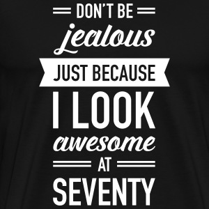 Awesome At Seventy T-shirts - Herre premium T-shirt