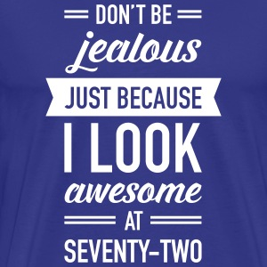 Awesome At Seventy-Two T-shirts - Premium-T-shirt herr