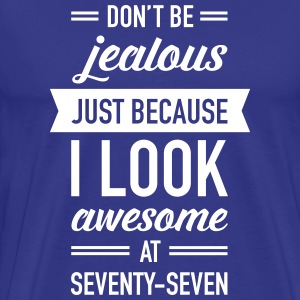 Awesome At Seventy-Seven T-shirts - Premium-T-shirt herr