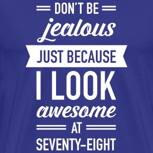 Awesome At Seventy-Eight T-shirts - Premium-T-shirt herr