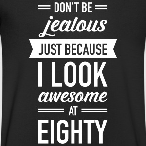 Awesome At Eighty T-Shirts - Men's V-Neck T-Shirt