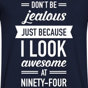 Awesome At Ninety-Four T-Shirts - Men's V-Neck T-Shirt