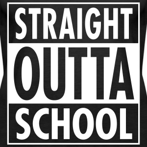 Straight Outta School Tops - Women's Premium Tank Top