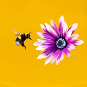 Bumblebee and flower T-shirts - Dame premium T-shirt