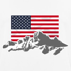 USA - Mountains & Flag T-Shirts - Männer T-Shirt atmungsaktiv