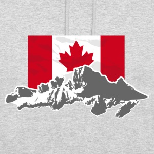 Canada - Maple Leaf- Mountains & Flag Pullover & Hoodies - Unisex Hoodie