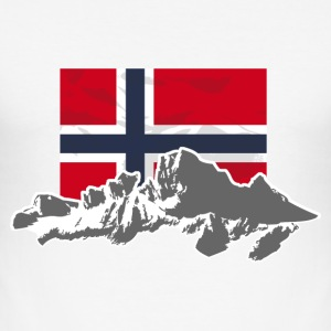 Norway - Mountains & Flag T-Shirts - Männer Slim Fit T-Shirt