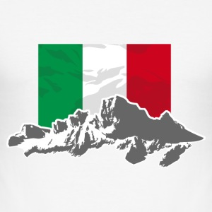 Italy - Mountains & Flag T-Shirts - Männer Slim Fit T-Shirt