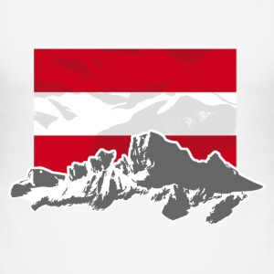 Austria - Mountains & Flag T-Shirts - Männer Slim Fit T-Shirt