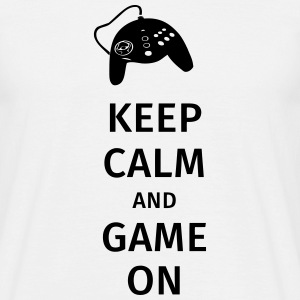 keep calm and game on T-Shirts - Men's T-Shirt