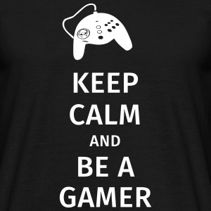 keep calm and be a gamer T-shirts - Herre-T-shirt