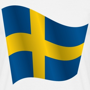 Waving Flag of Sweden - Men's T-Shirt
