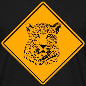 Leopard Road Sign T-Shirts - Männer T-Shirt