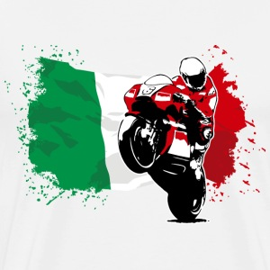 Motorcycle Racing - Italy Flag T-Shirts - Männer Premium T-Shirt