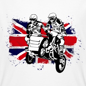 Sidcar Moto Cross Racing - Union Jack Flag T-Shirts - Men's Organic T-shirt