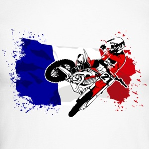 Moto Cross Racing - France Flag Manches longues - T-shirt baseball manches longues Homme