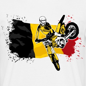 Moto Cross Racing - Belgium Flag Tee shirts - T-shirt Homme
