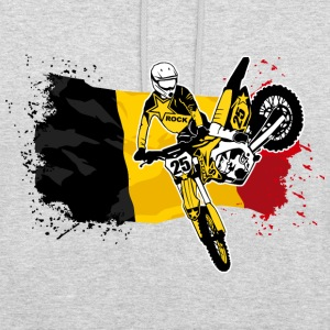 Moto Cross Racing - Belgium Flag Sweat-shirts - Sweat-shirt à capuche unisexe