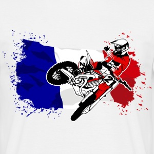 Moto Cross Racing - France Flag T-Shirts - Männer T-Shirt