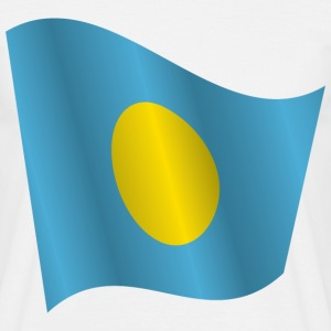 Waving Flag of Palau - Men's T-Shirt