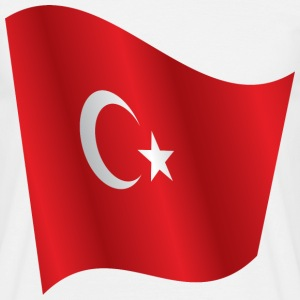 Waving Flag of Turkey - Men's T-Shirt