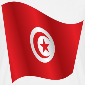 Waving Flag Of Tunisia - Men's T-Shirt