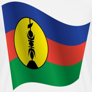 Waving Flag of New Caledonia - Men's T-Shirt