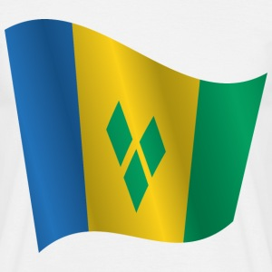 Waving Flag of Saint Vincent and the Grenadines - Men's T-Shirt