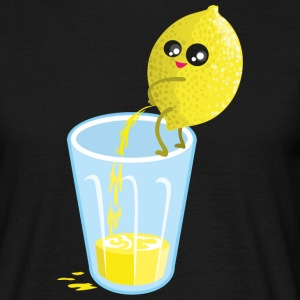 Sort Lemon pees lemonade T-shirts - Herre-T-shirt