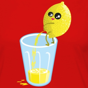 Red Lemon pees lemonade Long Sleeve Shirts - Women's Premium Longsleeve Shirt