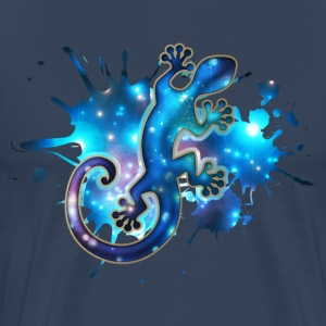 Space Gecko, Galaxy, Star, Surf, Lizard, Universe T-skjorter - Premium T-skjorte for menn