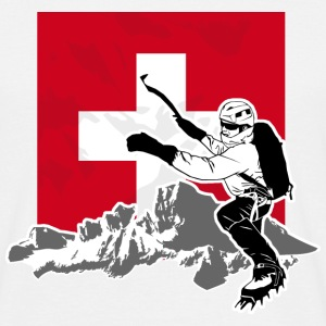 Climbing - Moutains & Swiss Flag T-Shirts - Männer T-Shirt