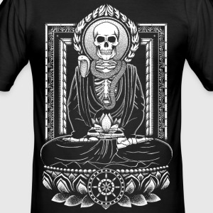 Sort Buddha and Mucalinda T-shirts - Herre Slim Fit T-Shirt