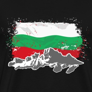 Bulgaria - Mountains & Flag T-Shirts - Männer Premium T-Shirt