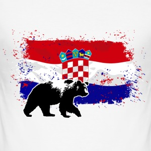 Croatia - Bear & Flag T-Shirts - Männer Slim Fit T-Shirt
