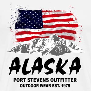 Alaska - Mountains & Flag T-Shirts - Männer Premium T-Shirt