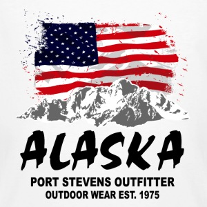 Alaska - Mountains & Flag T-Shirts - Männer Bio-T-Shirt