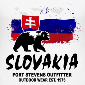 Slovakia - Bear & Flag T-Shirts - Männer Slim Fit T-Shirt