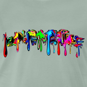Color, rainbow, graffiti, splash, paint, comic  - Men's Premium T-Shirt