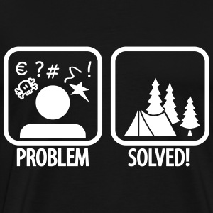 problem solved - camping T-Shirts - Men's Premium T-Shirt