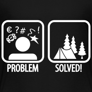 problem solved - camping Shirts - Teenage Premium T-Shirt
