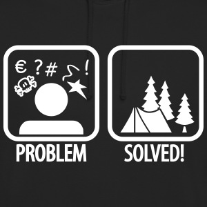 problem solved - camping Sweaters - Hoodie unisex