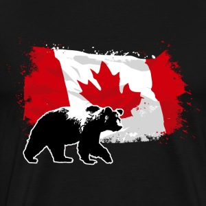 Canada - Grizzly & Flag5 T-Shirts - Männer Premium T-Shirt