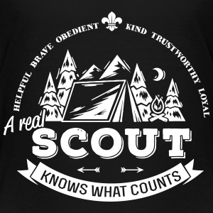 A real scout knows what counts Camisetas - Camiseta premium adolescente