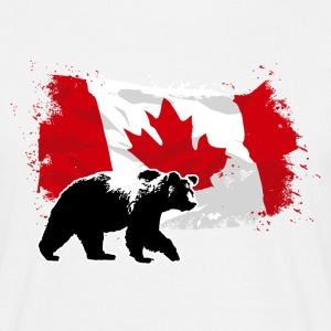 Canada - Grizzly & Flag5 T-Shirts - Männer T-Shirt
