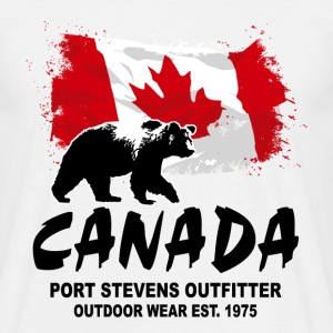 Canada - Grizzly & Flag T-Shirts - Männer T-Shirt
