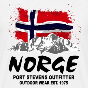 Norway - Mountains & Flag T-Shirts - Männer T-Shirt